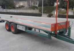 Rimorchio LOCHMANN trasporta bins. Mod. RP 60.5 T. omologato 60 ql. Dumper 2 assi-4