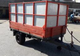 Rimorchio 2.80 x 1.65 motrice ribaltabile idraulico-2